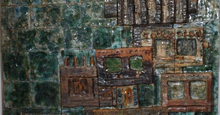 Hans de Jong monumental tile scene