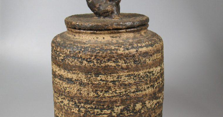 Jan van Stolk 1960's pot with animal