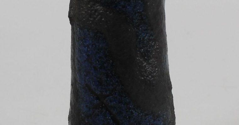 Jaap Dommisse blue art pottery vase COBRA style