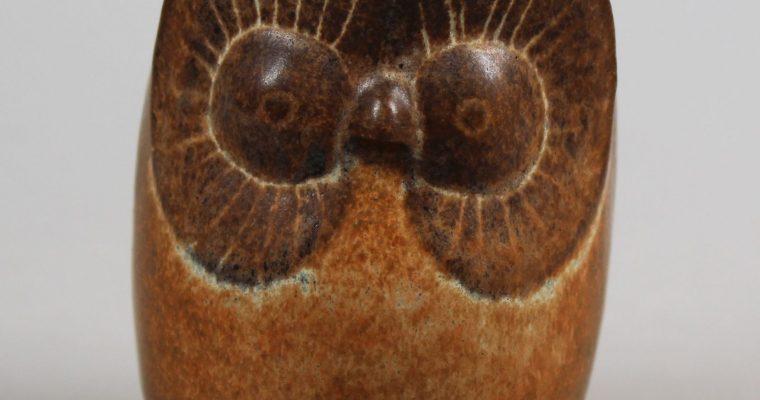 Henk Groenhuis studio pottery owl figurine