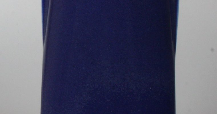 Jeroen Bechtold blue porcelain vase 1981