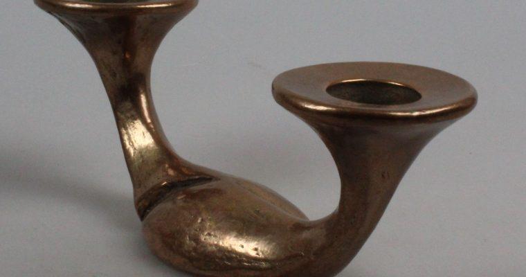Brass swan candleholder 1960's