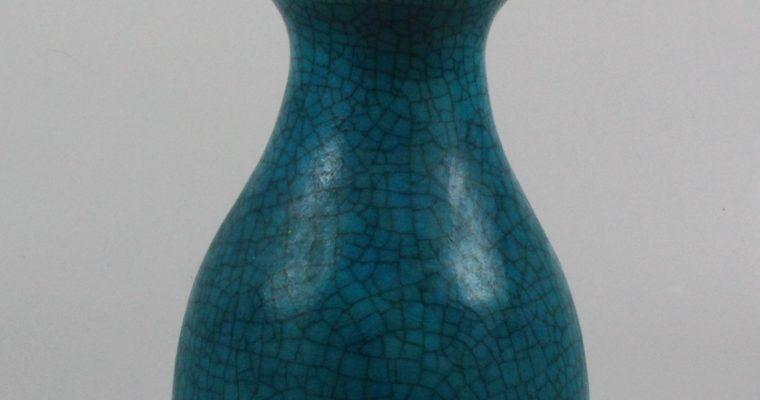 Jaap Ravelli 1960's vase crackled glaze