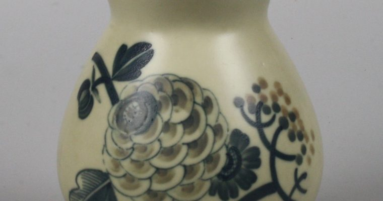 Aluminia early porcelain art deco vase
