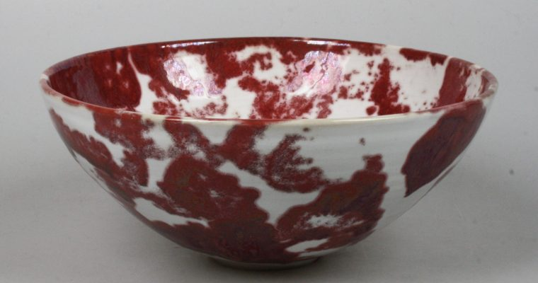 Johan Broekema bowl with lustre glaze
