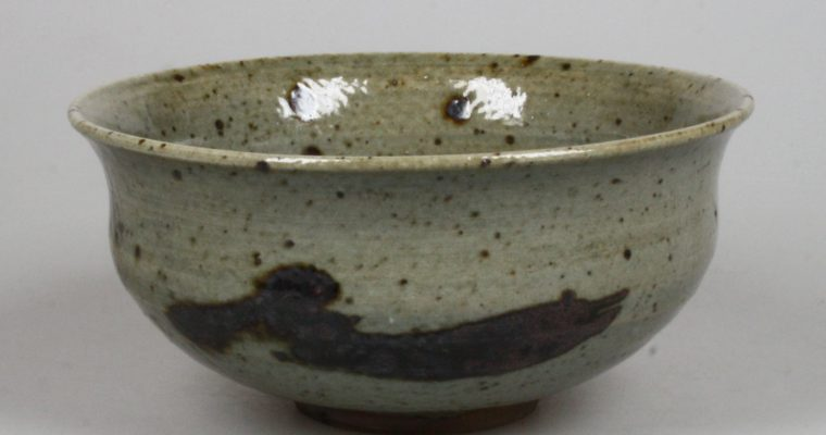 Johannes Heesterman studio pottery bowl 1978