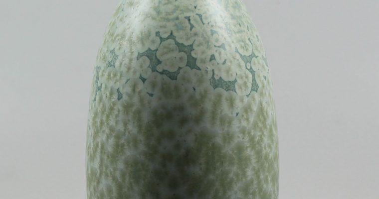 Hein Severijns green crystalline slender vase