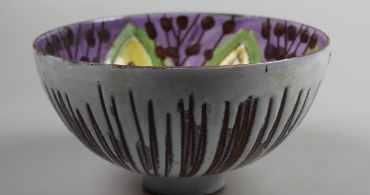 Laholm Sweden art pottery bowl