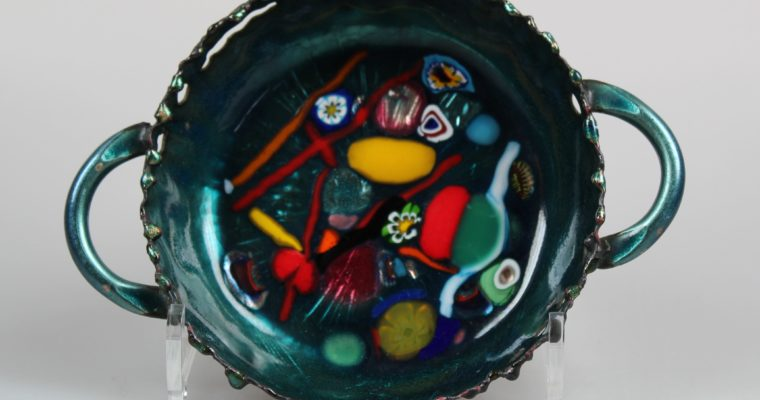 Franco Bastianelli Laurana Rame d'arte enamel bowl