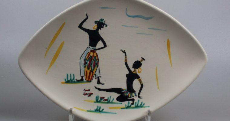 Schmider Keramik Zell 1950's Anneliese Beckh plate