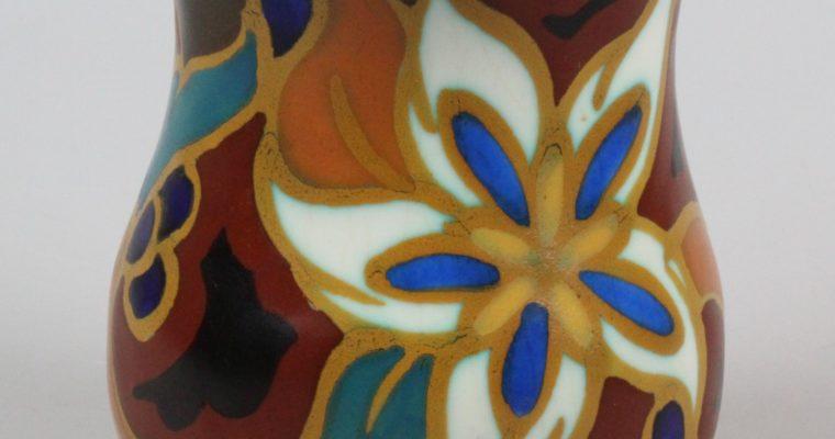 Zenith Gouda art deco vase Daisy pattern