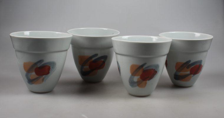 Johan Broekema set of porcelain vases