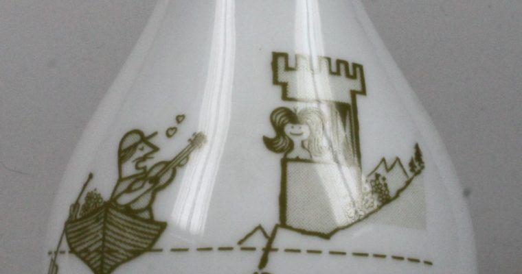 MOSA Maastricht 1950's advertisement porcelain vase