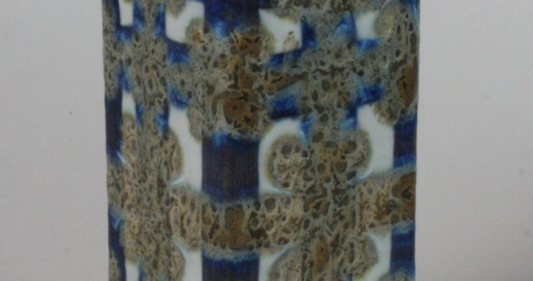 Nils Thorsson Aluminia Fajance porcelain vase