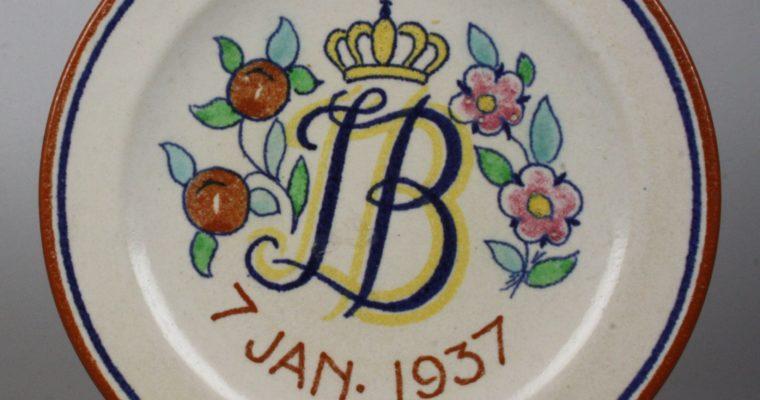 Goedewaagen plate Juliana/Bernard 1937