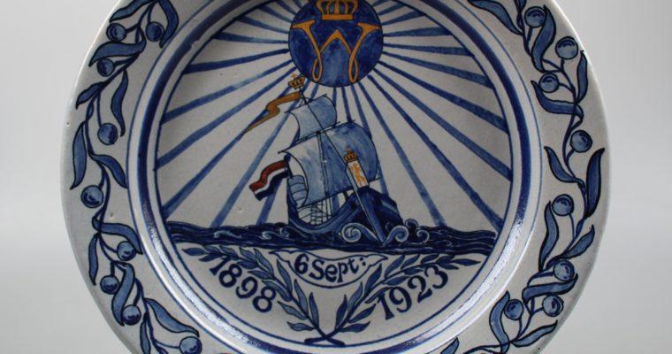 Oud Delft plate Wilhelmina 1898-1923