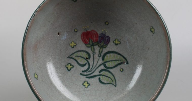 Poole Pottery art deco bowl on foot
