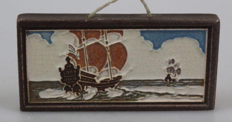 Westraven Utrecht cloisonne tile ship