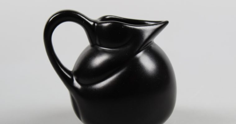 Willem Stuurman small black art deco pitcher