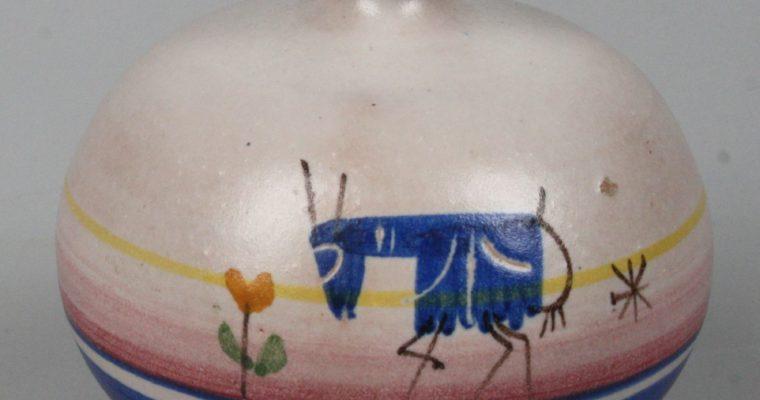 D'Amore Vietri 1950's art pottery vase