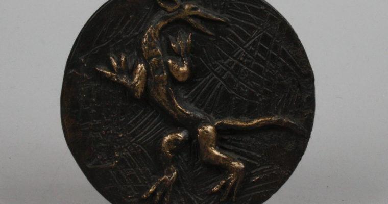 Jissy Keuenhof bronze plaque/medal Hieronymus Bosch