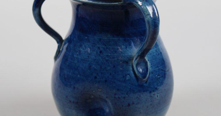 Mobach Utrecht art deco vase blue