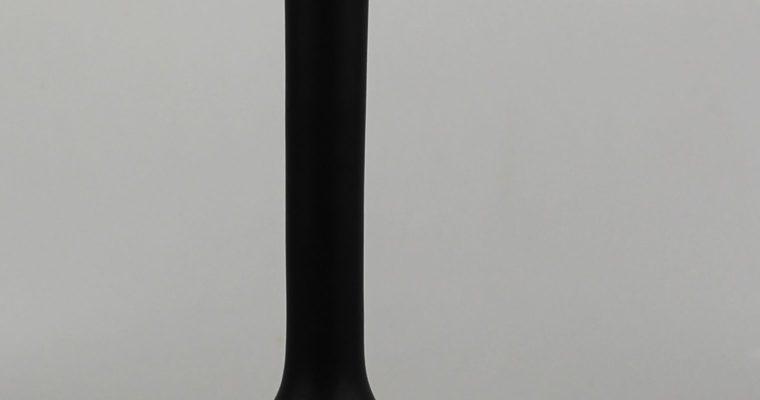 Carlo Moretti Murano Satinato vase black & white