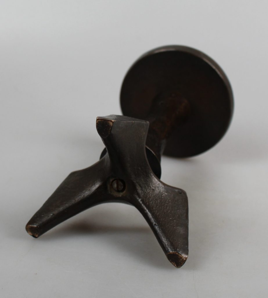 Mid-century modern bronze brutalist candleholder
