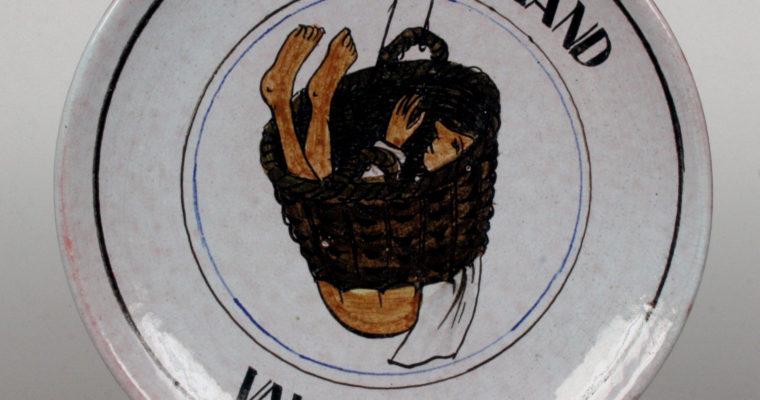 Perignem Belgium humorous wall plate