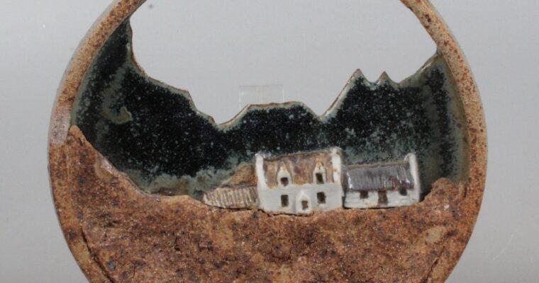 Alastair Dunn studio pottery plaque 1970's
