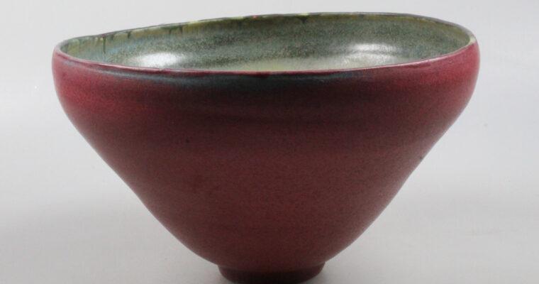 Heidi Kippenberg large porcelain studio pottery bowl