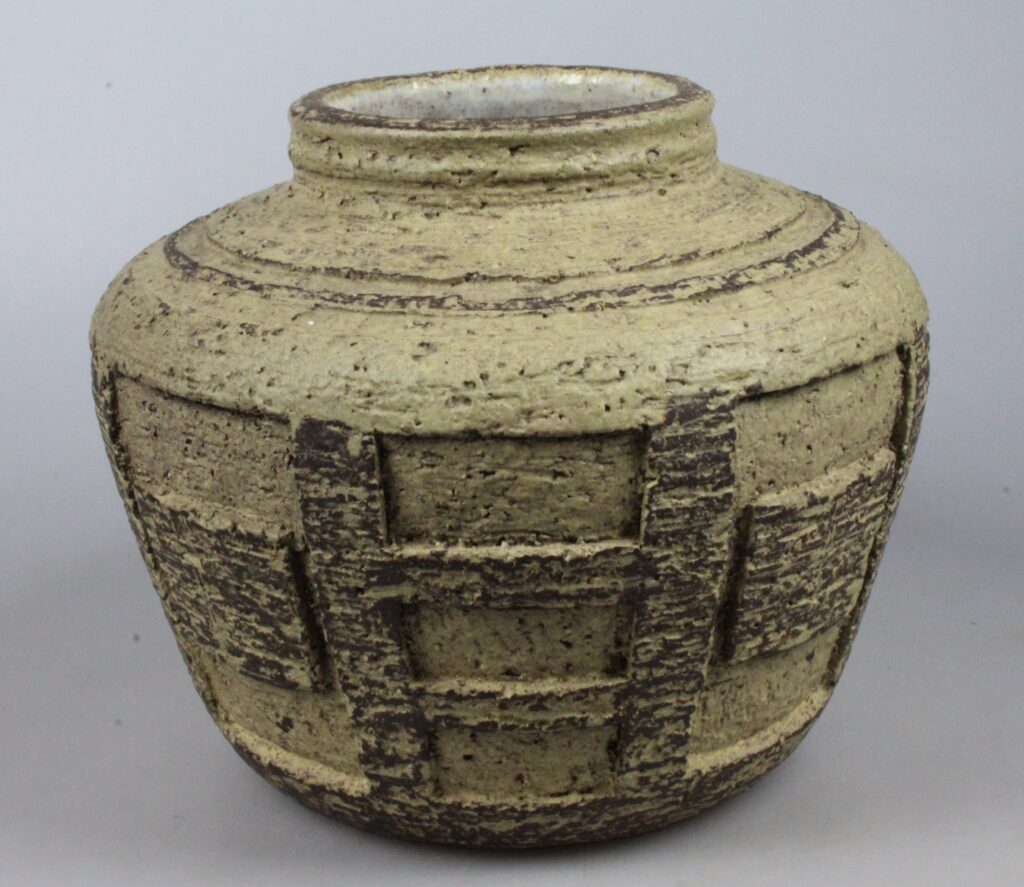 Zaalberg 1950's abstract art pottery vase
