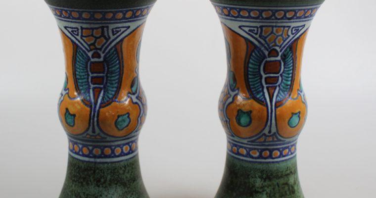 Plateelbakkerij Schoonhoven set of art deco vases