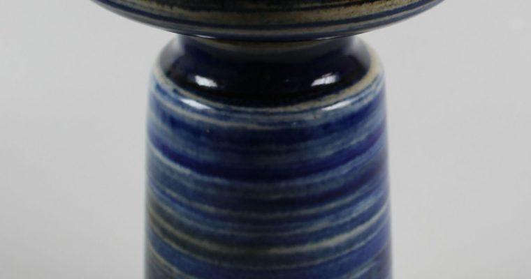 Zaalberg blue art pottery vase