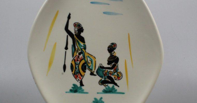 Schmider Keramik Zell 1950's plate Anneliese Beckh