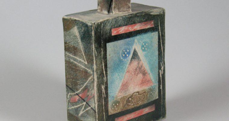 Netty Janssens studio pottery flask
