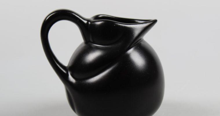 Willem Stuurman small black art deco pitcher