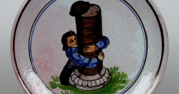 Perignem Belgium small wall plate
