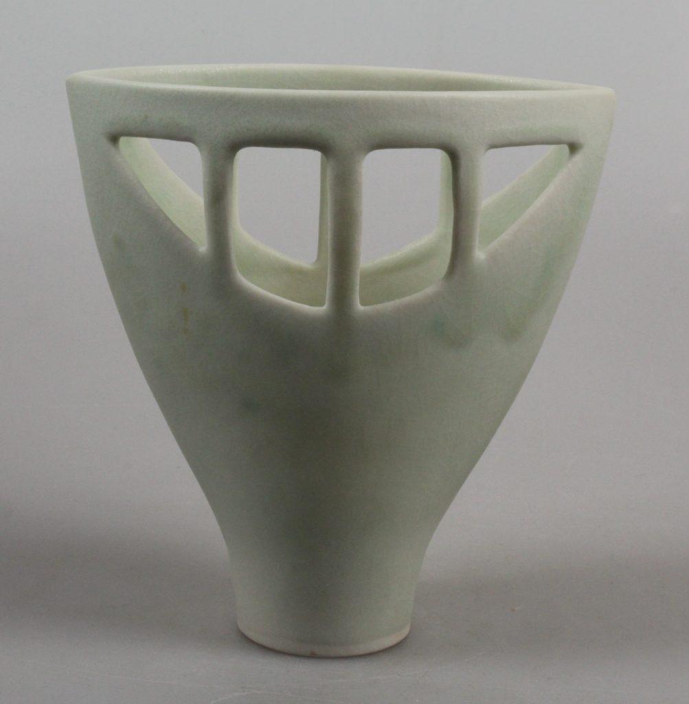 Gerburg Karthausen porcelain open vase