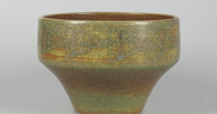 Henk Verberkmoes decorated art pottery bowl