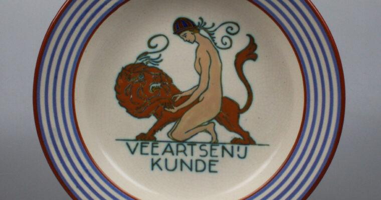 Plateelbakkerij Zuid-Holland  rare plate Veeartsenijkunde